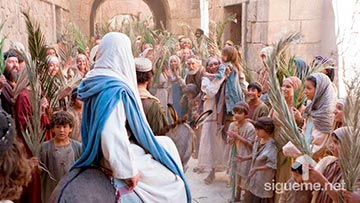 Jesus entra triunfante a Jerusalen en Domingo de Ramos