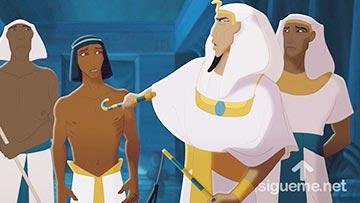 ilustración de: José es presentado delante del Faraon de Egipto