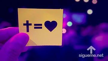 El amor de Dios se expresa en la cruz de Jesus