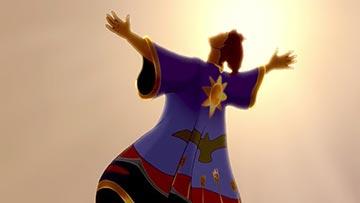 ilustración de: Jose con su tunica de colores
