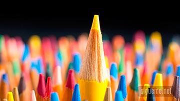 Lapices de Colores concepto de talento, elegido