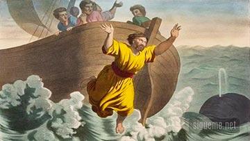 El profeta Jonas es arrojado del barco cuando se disponía huir de la presencia de Jehová a Tarsis