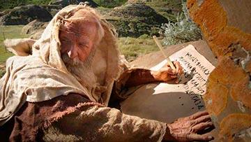 El profeta Isaias escribiendo la vision