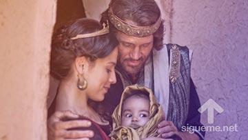 David, rey de Israel y Betsabe madre de Salomon