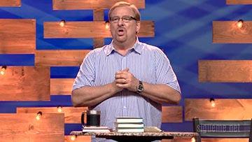 El pastor Rick Warren predicando sobre la fe