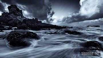 Tempestad formandose en la playa