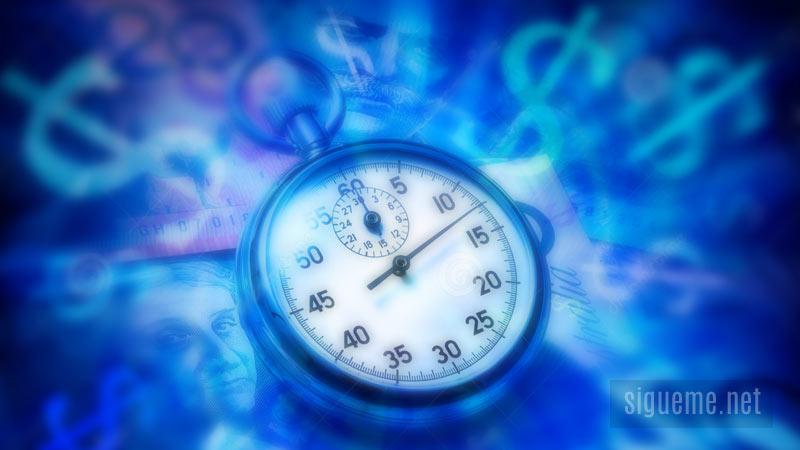 Tiempo, hora, oportunidad de hacer negocios