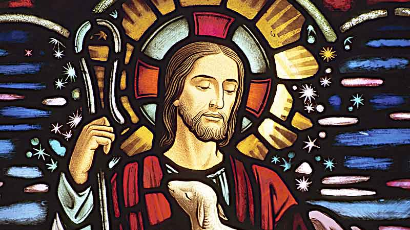 Vitro de Jesus el Buen Pastor