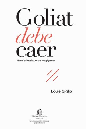 portada del libro Goliat Debe Caer