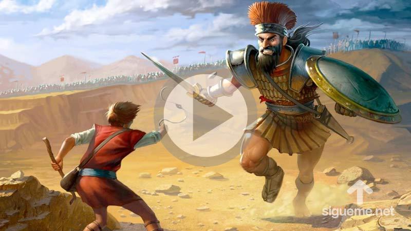 David enfrenta a Goliat en Batalla